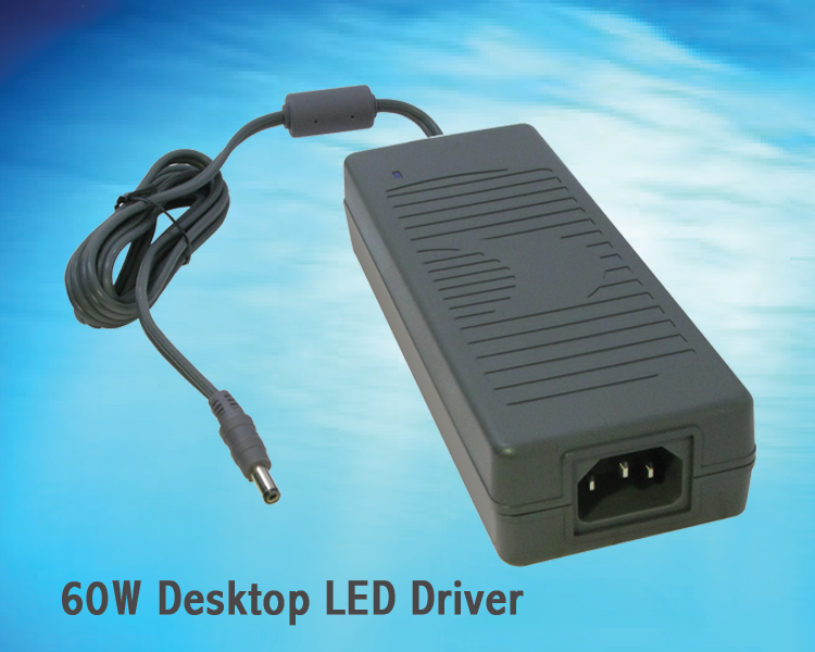 New 60W Constant-Current and Constant-Voltage GT-E3056CC60 Desktop Expands GlobTek's line of LED Drivers!