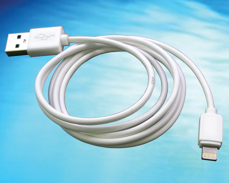 GlobTek offers Lightning style connector and USB cable assemblies as accessories for its Power supplies, USBA0M8LITEWH(R)
