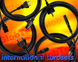 GlobTek's 2 Conductor IEC 320/C7 cordsets are approved to international safety agency requirements. Designs are available in various lengths, cable types, conductor gauge, termination, and jacket color.